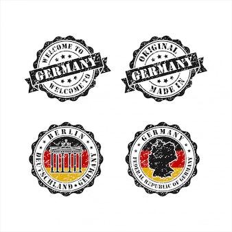 독일 컬렉션의 스탬프 오리지널 미드