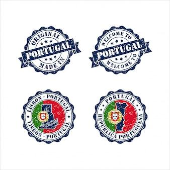 Stamp original mede in portugal lisbon collection
