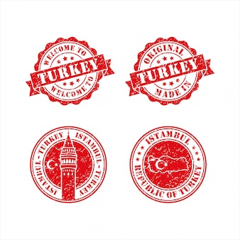 Stamp welcome to istambul turkey collection