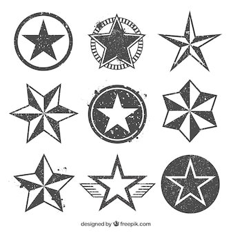 Stamped star icons