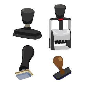 Дизайн векторной коллекции stamper