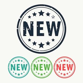 Новая марка этикетки значок в стиле gunge