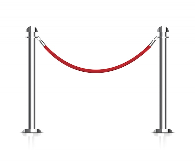 Stanchions barrier.