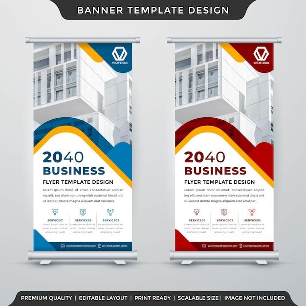 Stand banner display template premium style Premium Vector