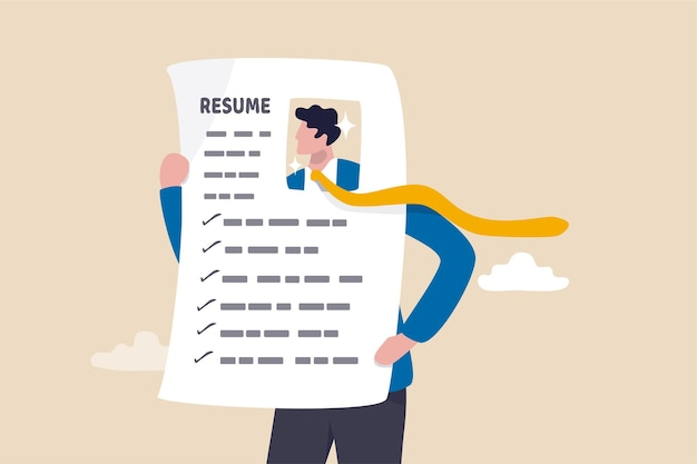 履歴書や履歴書のコンセプトを際立たせましょう。