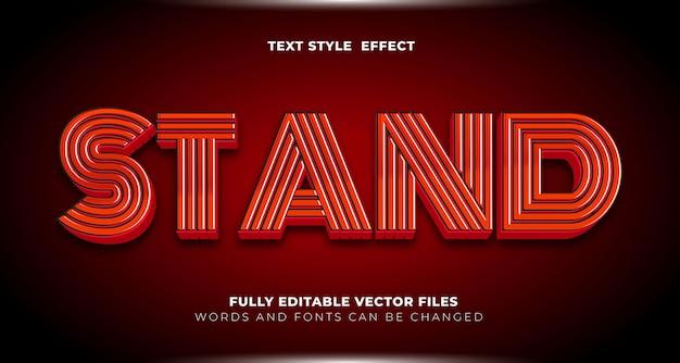 Стенд красный цвет редактируемый текстовый эффект