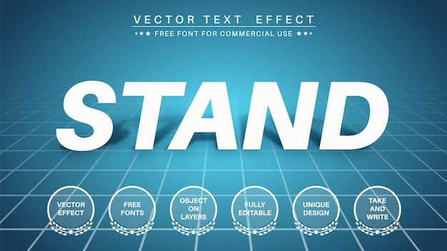 Stand shadow text effect