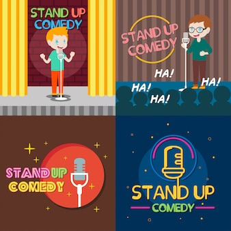 Stand up comedy illustration