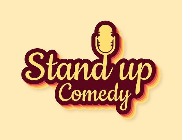 Встаньте в плоский на красном фоне значок ретро микрофона подставка для микрофона