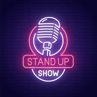 Stand up neon sign