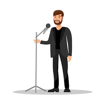Stand up show isolated color vector illustration