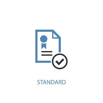 표준 개념 2 색 아이콘입니다. 간단한 파란색 요소 그림입니다. 표준 개념 기호 디자인입니다. 웹 및 모바일 ui/ux에 사용할 수 있습니다.