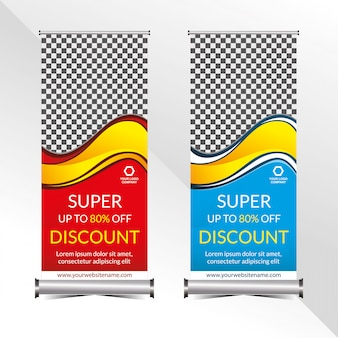 Standing banner promotion template super special discount offer sale