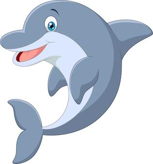 Standing dolphin vector illustration