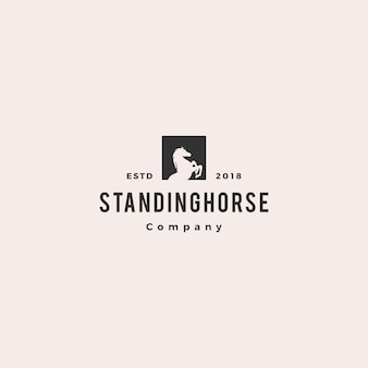Standing horse logo hipster