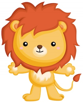 立ちライオン