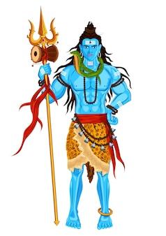 Standing lord shiva mahashivratri