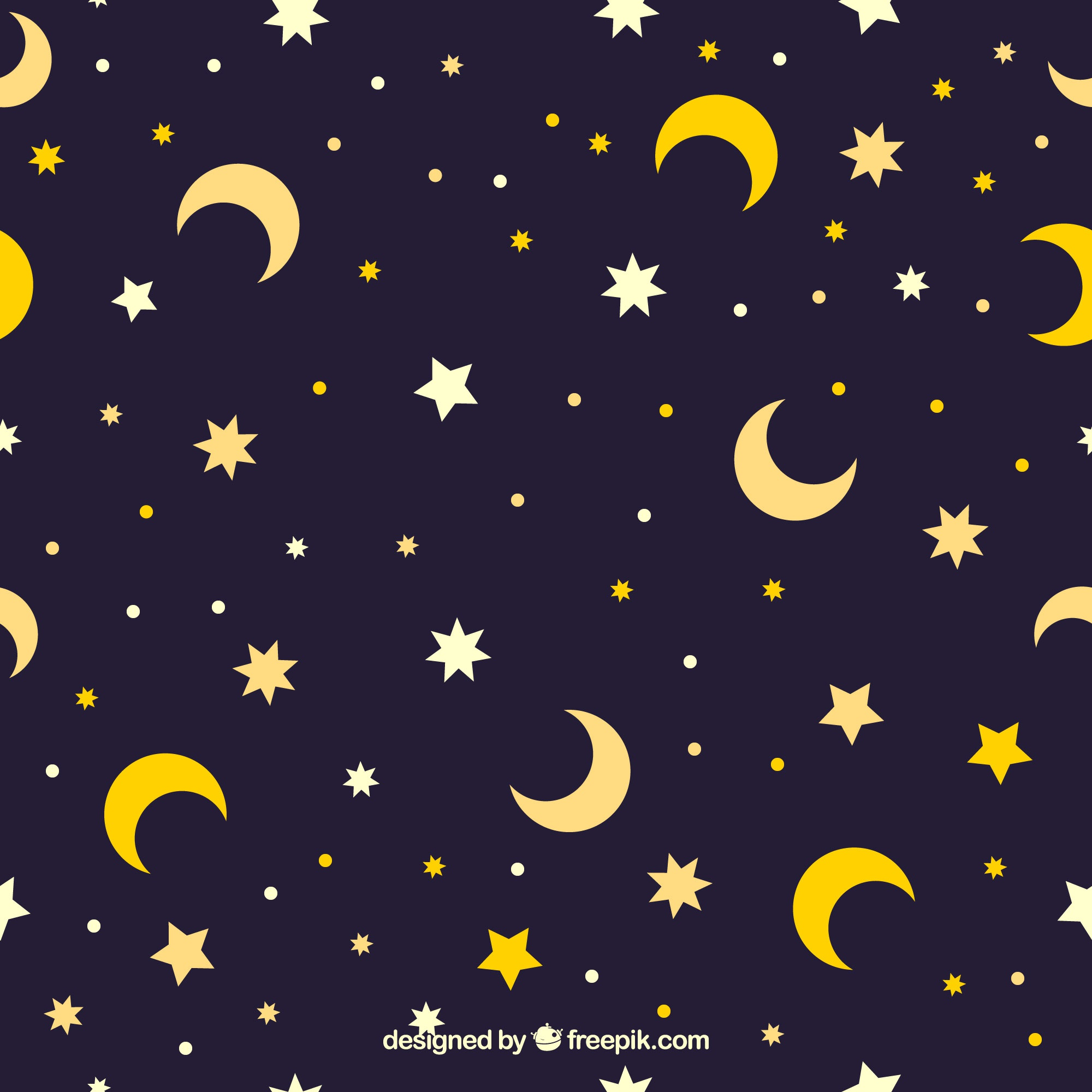 Star and moon pattern