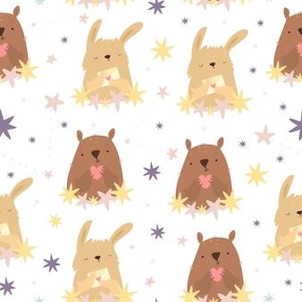 星の動物のパターン