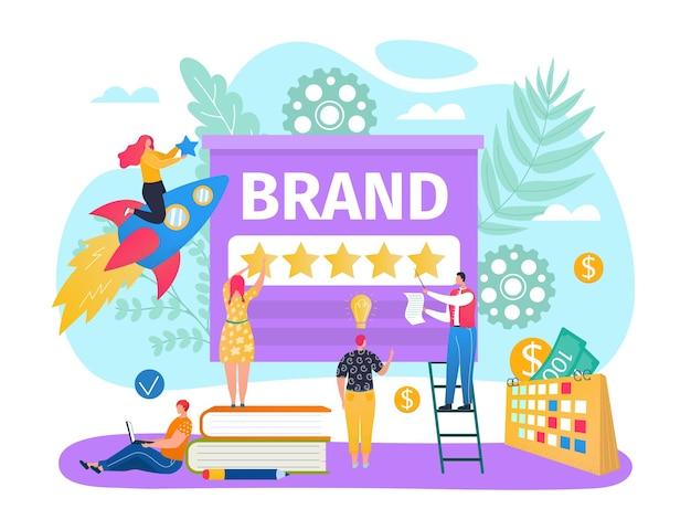 デジタルビジネスブランドのコンテンツコンセプトにスターを付ける