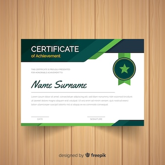 Star badge certificate template
