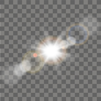 Star burst with sparkles