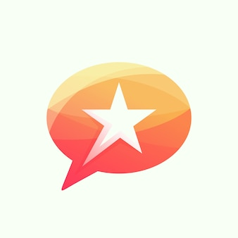 Star chat logo illustration