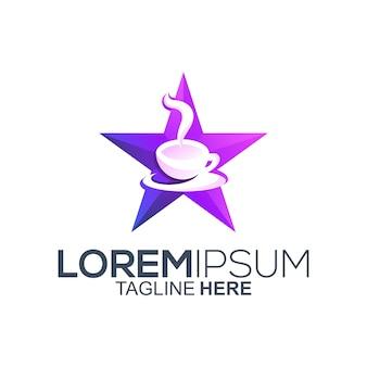 Star coffee logo design