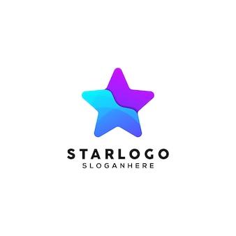 Star colorful logo design template