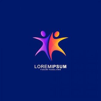 Star couple people premium logo