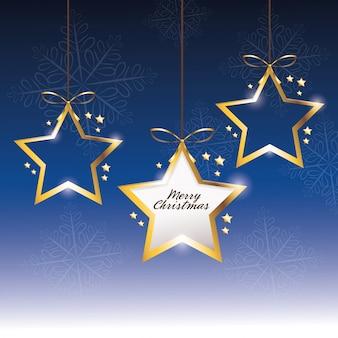 Star decoration merry christmas holiday celebration