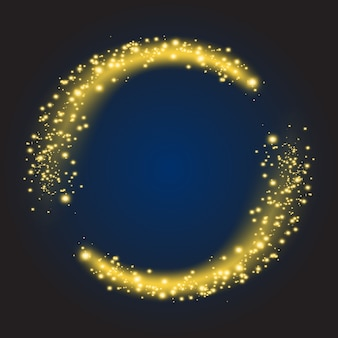 Star dust circle. sparkle shiny glow bright round, glitter illuminated. vector illustration