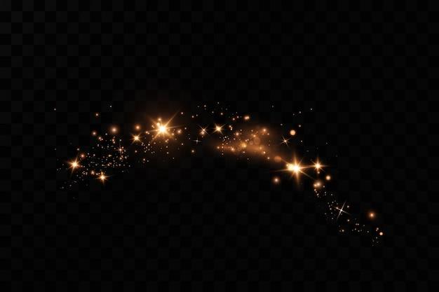 スターダスト効果、光効果。きらびやかな粒子