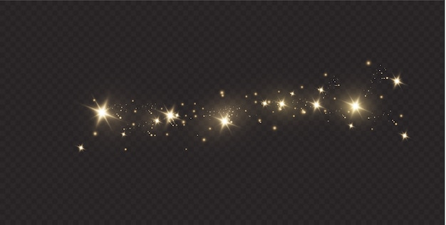 Star dust sparkling particles