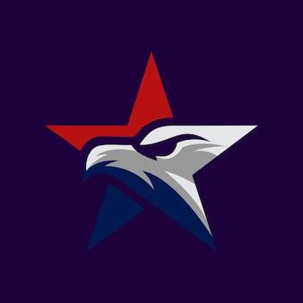 Star eagle icon logo design