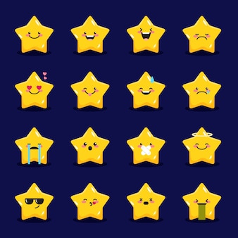 Star emoticons collection