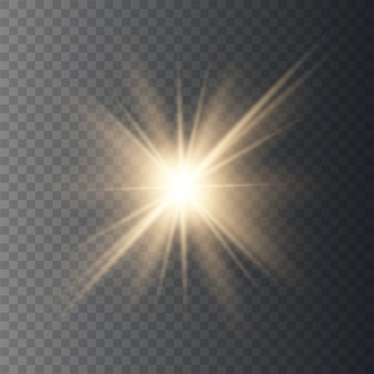 Star explodes, bright flash gold light