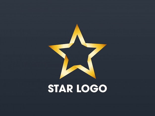 Star gold logo template.