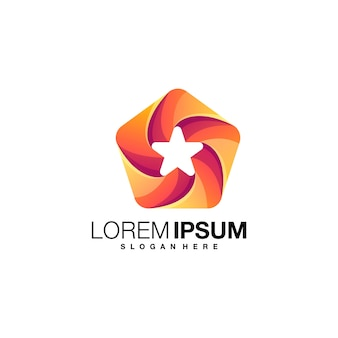 Star gradient logo design
