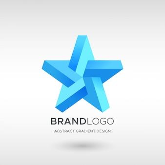Логотип звездный градиент