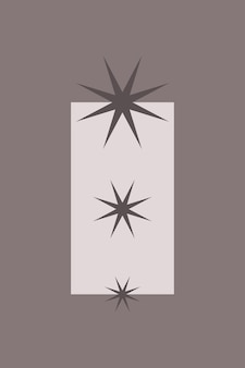 Star group icon boho minimalist element for poster.