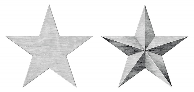 Star hand draw vintage style black and white