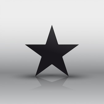 Star icon black with shadow.