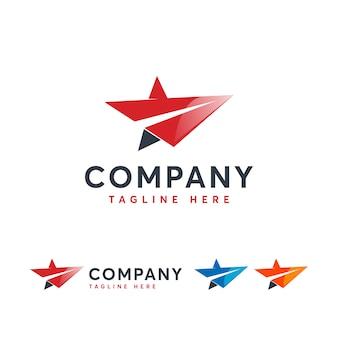 Шаблон логотипа star jet