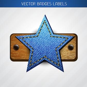 Star label design