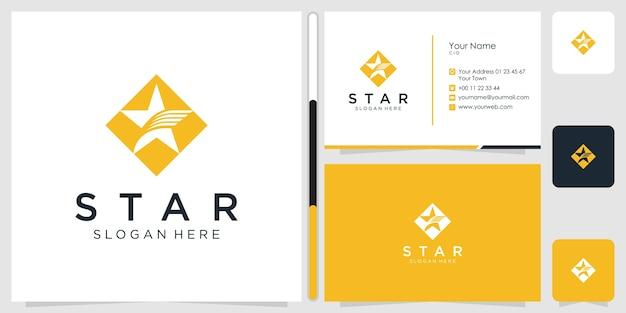 星のロゴデザインと名刺。