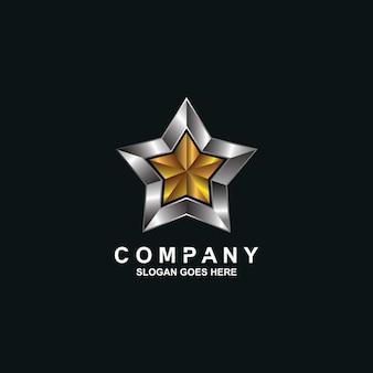 ベクトルの星のロゴのデザイン
