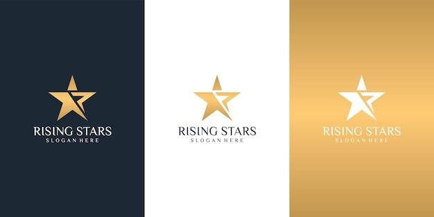 星のロゴのデザインテンプレート