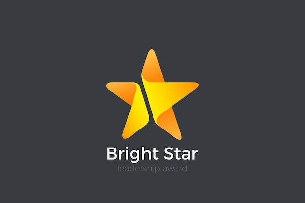 Звездный логотип. лидер, победитель, чемпион, награда за успех. Premium векторы