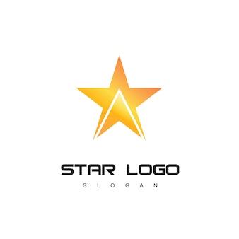 스타 로고 템플릿 성공 회사 기호